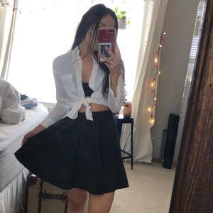 Zara charcoal circle skirt